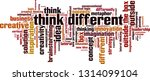 think different word cloud... | Shutterstock .eps vector #1314099104