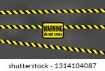 black and yellow strip... | Shutterstock .eps vector #1314104087