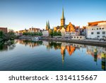 Old Town Of Lubeck Along The...