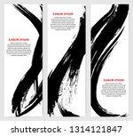 vertical banners set in modern... | Shutterstock .eps vector #1314121847
