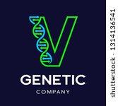 letter v genetic dna vector... | Shutterstock .eps vector #1314136541