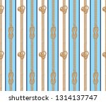 seamless vector lined rope knot ... | Shutterstock .eps vector #1314137747