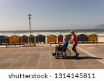 side view of disabled senior... | Shutterstock . vector #1314145811