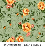 seampless flower ditsy classic...   Shutterstock . vector #1314146831
