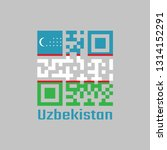 qr code set the color of... | Shutterstock .eps vector #1314152291