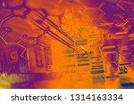 pipette. laboratory concept. | Shutterstock . vector #1314163334