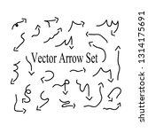doodle vector hand drawn arrow... | Shutterstock .eps vector #1314175691