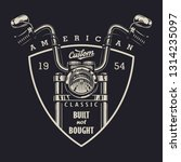 vintage classic motorbike... | Shutterstock . vector #1314235097