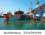 the working area of the ship in ... | Shutterstock . vector #1314244244