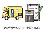caravan and electronic...   Shutterstock .eps vector #1314244661