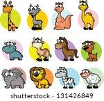 set of cartoon animals  vector | Shutterstock .eps vector #131426849