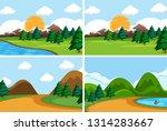 set of flat nature scene... | Shutterstock .eps vector #1314283667
