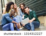 multi ethnic group of young... | Shutterstock . vector #1314312227