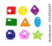 funny geometric figures set... | Shutterstock .eps vector #1314316247