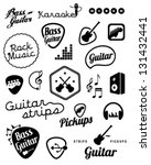 collection of music and sound... | Shutterstock .eps vector #131432441
