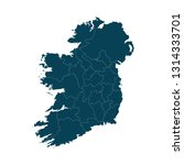 map of ireland   high detailed... | Shutterstock .eps vector #1314333701