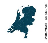 map of netherlands   high... | Shutterstock .eps vector #1314333731