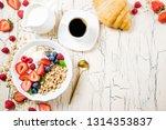 granola for breakfast with... | Shutterstock . vector #1314353837