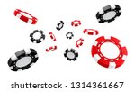 3d casino chips or flying... | Shutterstock . vector #1314361667