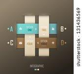 infographic template design | Shutterstock .eps vector #131436569