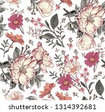 seamless pattern. realistic... | Shutterstock .eps vector #1314392681