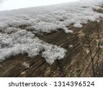 snow covered tree trunk. nature ... | Shutterstock . vector #1314396524
