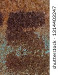 rusty number five on rusty... | Shutterstock . vector #1314403247
