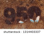 rusty number nine hundred and... | Shutterstock . vector #1314403337