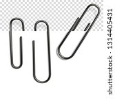 set of realistic paper clip... | Shutterstock .eps vector #1314405431