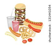 fast food  an illustration of...