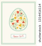 colorful happy easter greeting... | Shutterstock .eps vector #1314416114