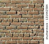 brick wall. grey old brick wall ... | Shutterstock . vector #131442584