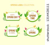 flat spring badge collection | Shutterstock .eps vector #1314428111