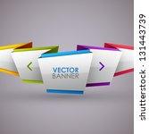 abstract vector banner | Shutterstock .eps vector #131443739
