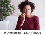 woman feeling toothache and... | Shutterstock . vector #1314448001