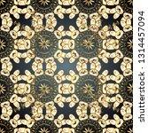 seamless classic golden pattern.... | Shutterstock .eps vector #1314457094