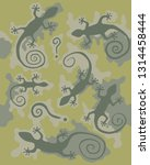 camouflage pattern with gecko... | Shutterstock .eps vector #1314458444