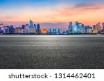 empty asphalt road through... | Shutterstock . vector #1314462401