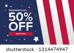 happy presidents day in united...   Shutterstock .eps vector #1314474947