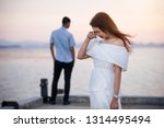 young couple break up at the...   Shutterstock . vector #1314495494