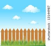 wooden fence  summer grass