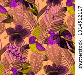 summer exotic seamless pattern. ... | Shutterstock . vector #1314512117