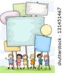 illustration of stickman kids... | Shutterstock .eps vector #131451467