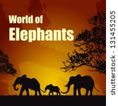 world of elephants | Shutterstock .eps vector #131455205