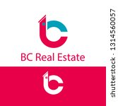 b and c logo real estate vector | Shutterstock .eps vector #1314560057