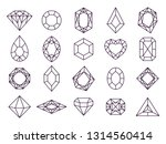 jewels diamond icons. diamonds... | Shutterstock .eps vector #1314560414