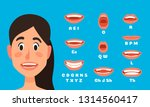talking woman mouth animation.... | Shutterstock .eps vector #1314560417