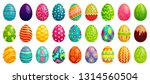 easter eggs. spring colorful... | Shutterstock .eps vector #1314560504