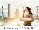 woman engineer speaking on... | Shutterstock . vector #1314565301
