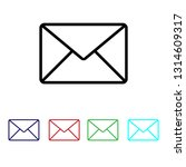 envelope icon vector | Shutterstock .eps vector #1314609317